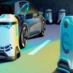 Autonomous robots for charging electric vehicles by Volkswagen