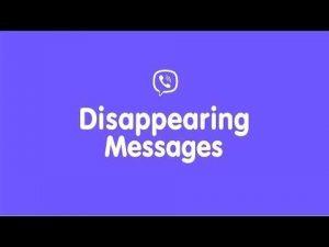 Viber: The self-destructive messages came